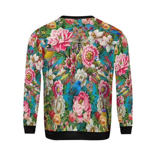 Russian Birdforest All Over Print Crewneck Sweatshirt for Men (Model H18)