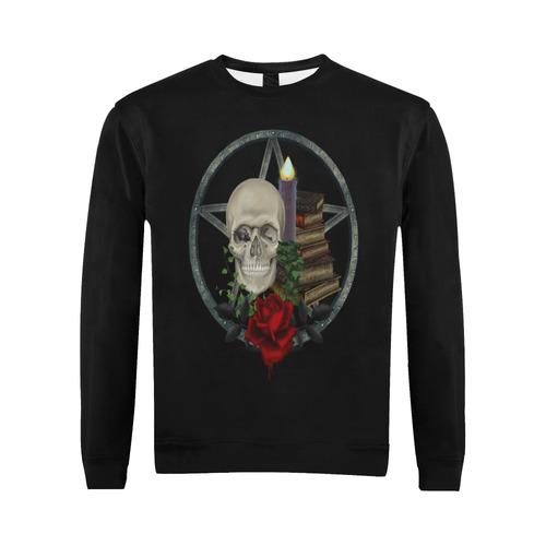 Gothic Black Magic All Over Print Crewneck Sweatshirt for Men (Model H18)