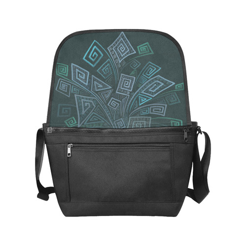 3D Psychedelic Abstract Square Spirals Explosion New Messenger Bag (Model 1667)