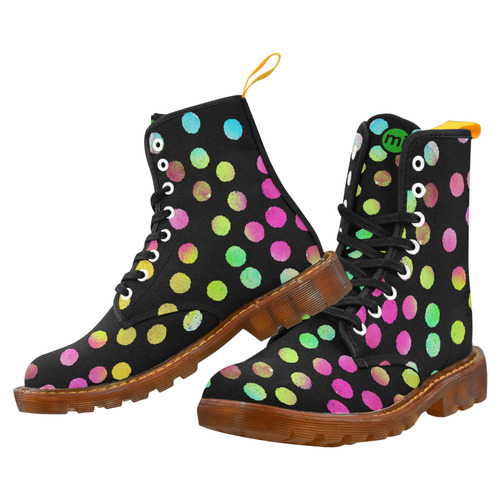 Multicolor Dots black. Inspired by the Magic Island of Gotland. Martin Boots For Women Model 1203H