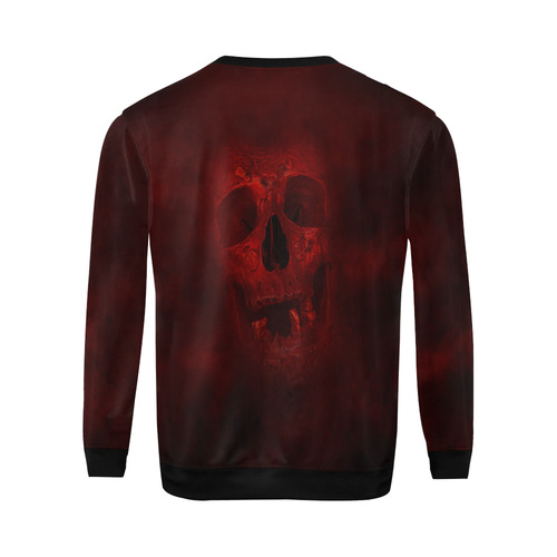 Red Skull All Over Print Crewneck Sweatshirt for Men (Model H18)