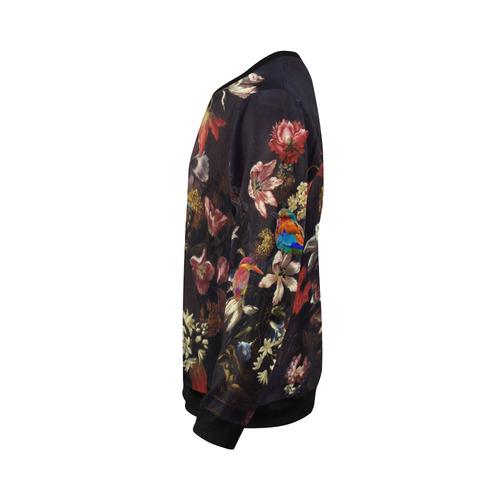Old Masters Flower Show All Over Print Crewneck Sweatshirt for Men (Model H18)