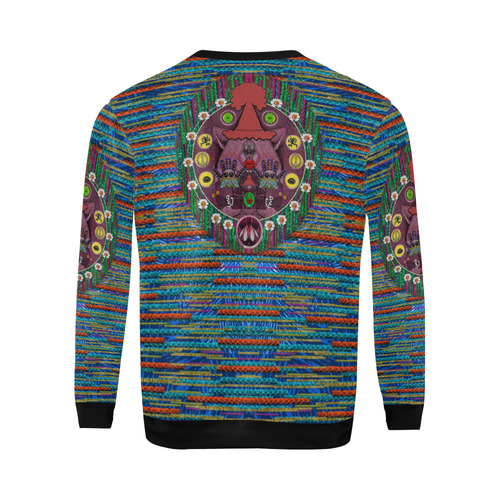 Peace In The Troll woody wood All Over Print Crewneck Sweatshirt for Men (Model H18)