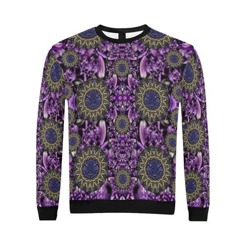 Flowers from paradise in fantasy elegante All Over Print Crewneck Sweatshirt for Men (Model H18)