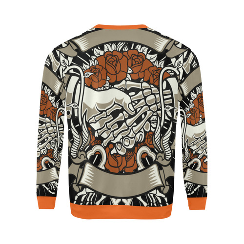 Otherside Orange All Over Print Crewneck Sweatshirt for Men (Model H18)