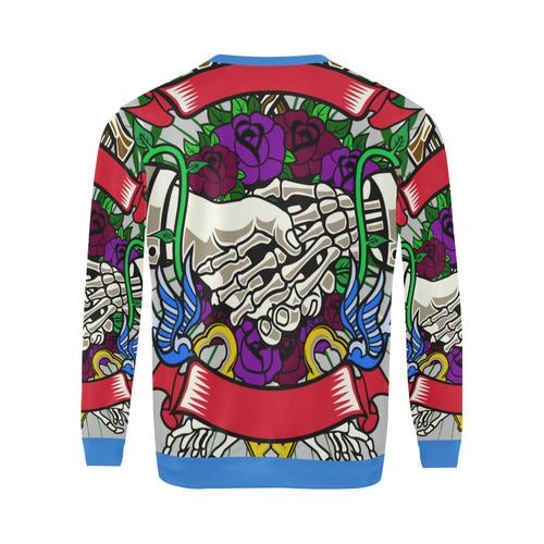 Otherside Modern Blue All Over Print Crewneck Sweatshirt for Men (Model H18)
