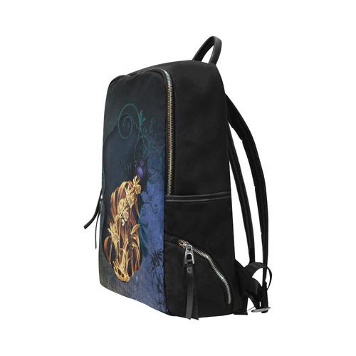Beautiful flowers on vintage background Unisex Slim Backpack (Model 1664)