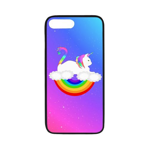"quality design 1ad21 4b5b1 Rainbow Unicorn Cat Rubber Case for iPhone 8 plus (5.5"")"