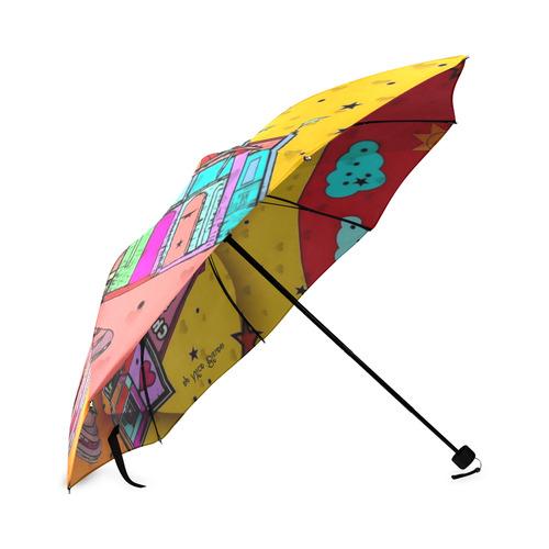 Marietta Popart 2018 by Nico Bielow Foldable Umbrella