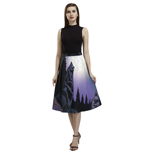 Howling Wolf Aoede Crepe Skirt (Model D16)