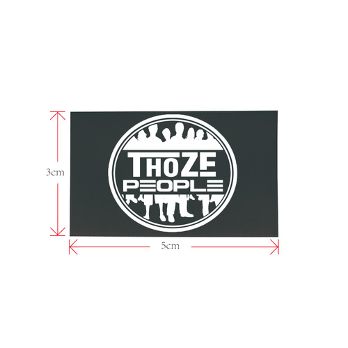 Thoze People logo 1 Private Brand Tag on Shoes Tongue  (5cm X 3cm)