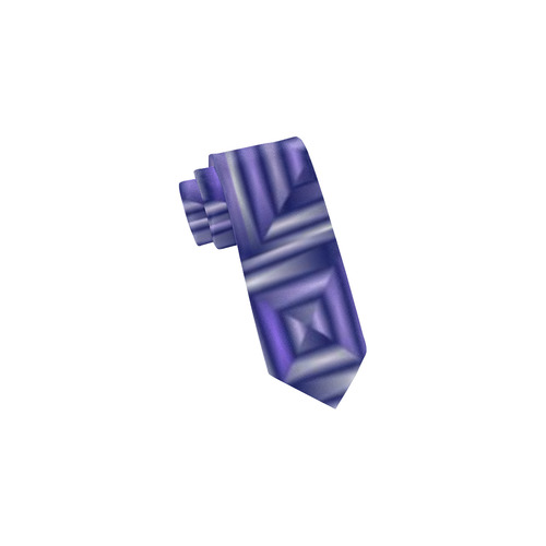 classic blocks,blue by FeelGood Classic Necktie (Two Sides)