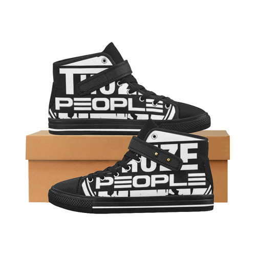 ThozePpl One (White on Black) Aquila Strap Men's Shoes (Model 1202)