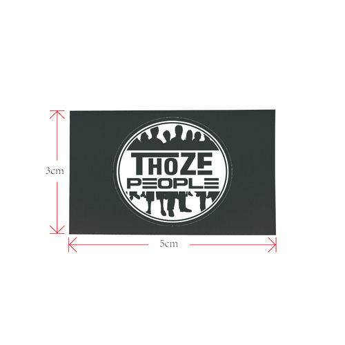 Thoze People Logo 2 Private Brand Tag on Shoes Tongue  (5cm X 3cm)