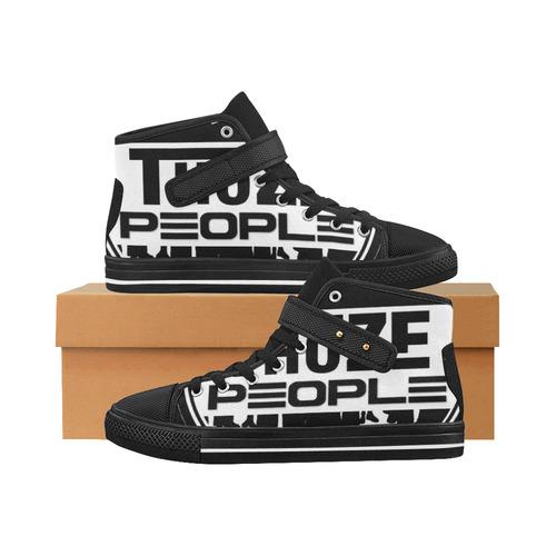 Thoze Ppl One (Black on White) Aquila Strap Men's Shoes (Model 1202)