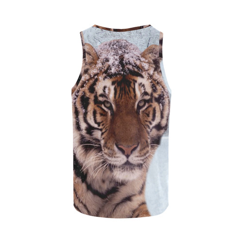 Tiger and Snow All Over Print Tank Top for Women (Model T43)