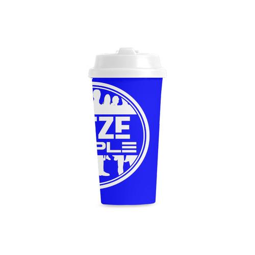 Thoze People Plastic Mug (White on Blue) Double Wall Plastic Mug