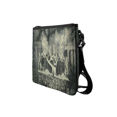 The dark side, skulls Slim Clutch Bag (Model 1668)