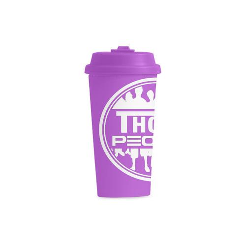 Thoze People Plastic Mug (White on Purple) Double Wall Plastic Mug