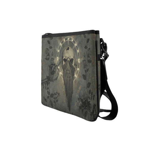 The creepy skull with spider Slim Clutch Bag (Model 1668)