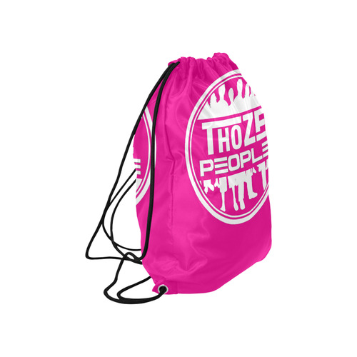 "Thoze Pull String Paq Pink Large Drawstring Bag Model 1604 (Twin Sides)  16.5""(W) * 19.3""(H)"