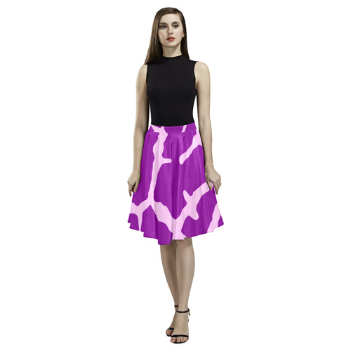 973c54dc50f1 Purple Giraffe Print Melete Pleated Midi Skirt (Model D15) | ID: D1994581