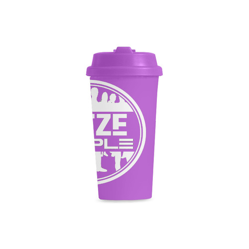 Thoze People Plastic Mug (White on Purple) Double Wall Plastic Mug