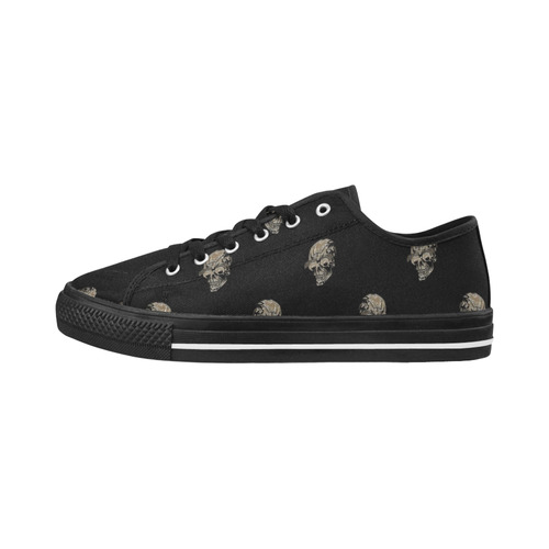 sparkling skulls C by JamColors Seattle Low Top Women's Shoes (Model 10136)