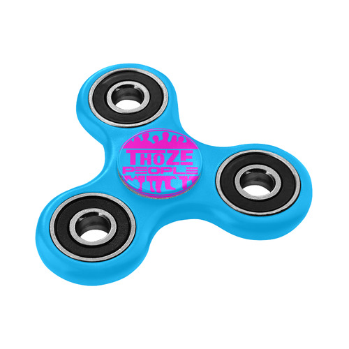 Thoze People pink on aqua Fidget Spinner
