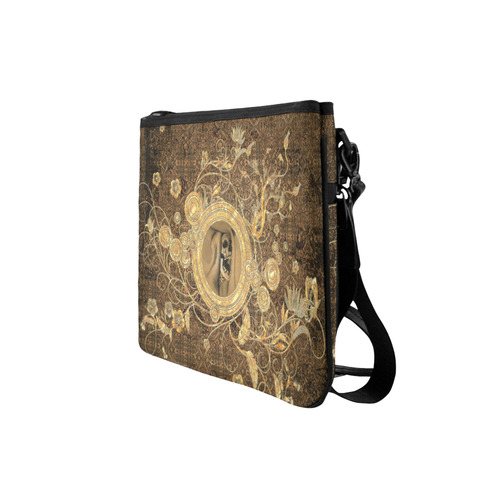 Awesome skull on a button Slim Clutch Bag (Model 1668)