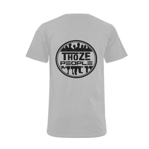 Thoze People V-Neck (Gray) Men's V-Neck T-shirt  Big Size(USA Size) (Model T10)