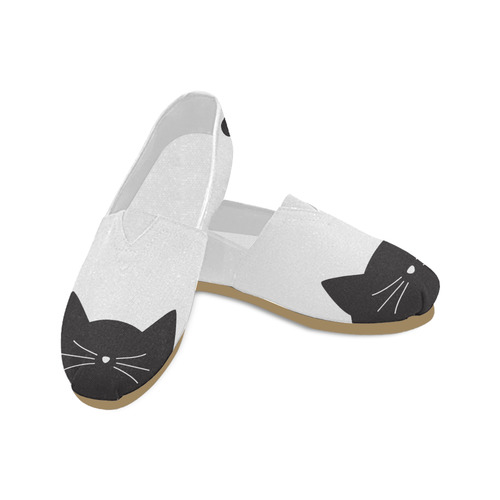 Black Cat Whiskers and Tail Unisex Casual Shoes (Model 004)