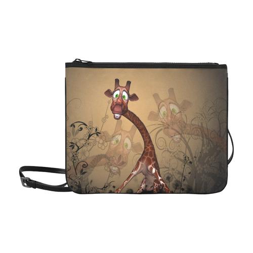 Sweet, cute giraffe Slim Clutch Bag (Model 1668)