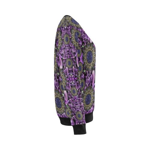Flowers from paradise in fantasy elegante All Over Print Crewneck Sweatshirt for Women (Model H18)