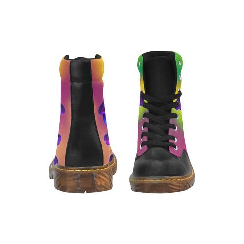 Magic Mushrooms Apache Round Toe Women's Winter Boots (Model 1402)