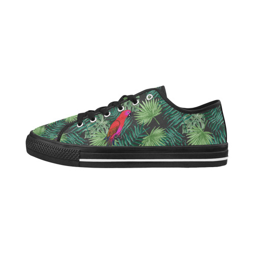 Parrot And Leaves Seattle Low Top Women's Shoes/Large Size (Model 10136)