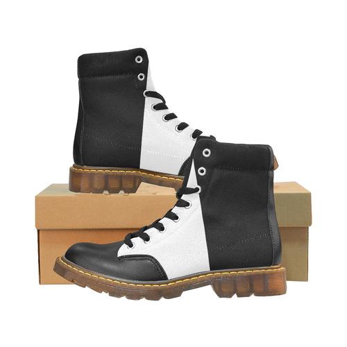 Black & White Apache Round Toe Women's Winter Boots (Model 1402)
