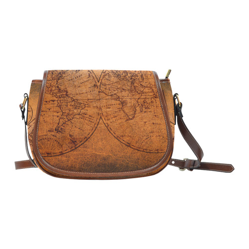 old world map large saddle bag Saddle Bag/Large (Model 1649) | ID: on map shoes, map luggage, map boots, map crossbody, map skirt, map phone case, map jacket, map scarf, map white, map trunk, map suitcase, map wallet, map sweater,