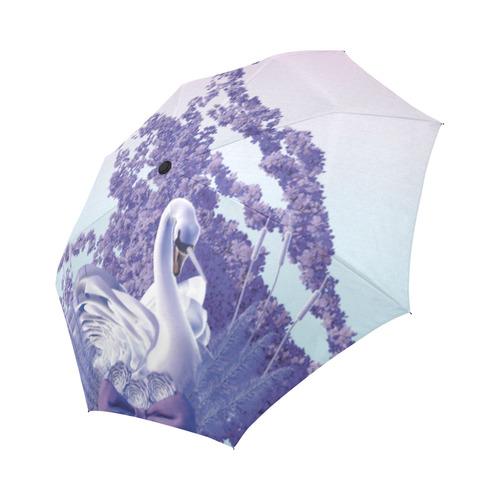 mystic swan Auto-Foldable Umbrella (Model U04)