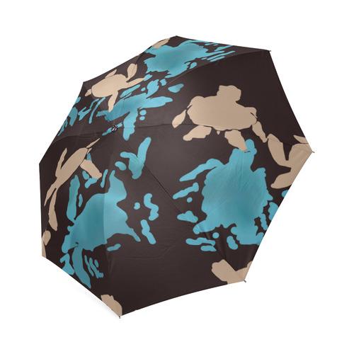 Swimming Turtles on black Foldable Umbrella (Model U01)