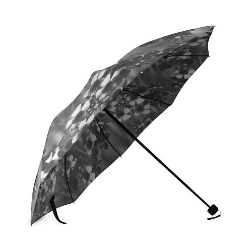 Black Blossoms Foldable Umbrella (Model U01)