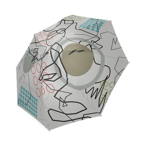 Abstract 8 pattern Foldable Umbrella (Model U01)