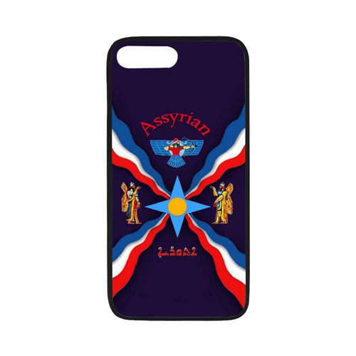 """sneakers for cheap f7f81 cd252 Assyrian Flag Cell Phone Case Rubber Case for iPhone 7 plus (5.5"""")"""