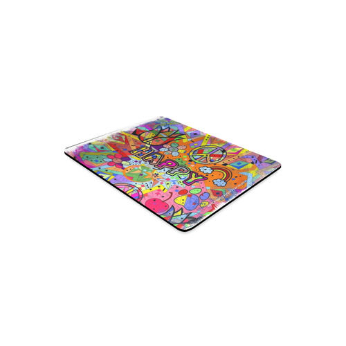 Happy Popart by Nico Bielow Rectangle Mousepad