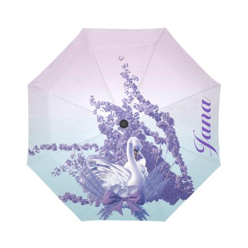 mystic swan for Jana Auto-Foldable Umbrella (Model U04)