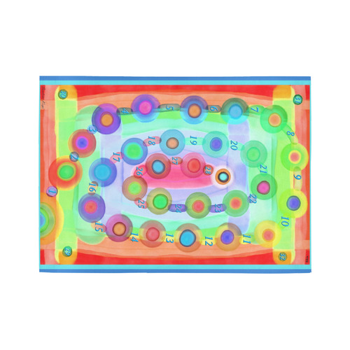 marelle with numbers 3 Area Rug7'x5'
