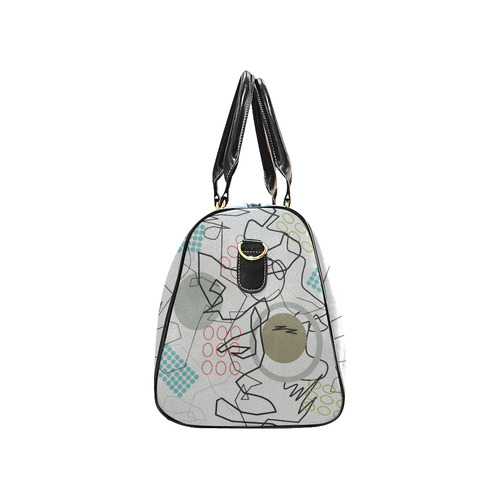 Abstract 8 pattern New Waterproof Travel Bag/Large (Model 1639)