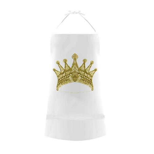 maya crown 17 Cotton Linen Apron