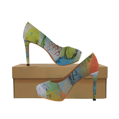 Flying in the Clouds Women's High Heels (Model 044)