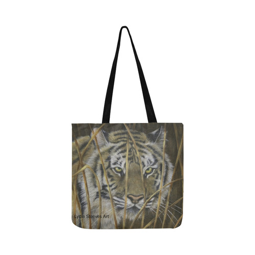 Tiger in Grass Reusable Shopping Bag Model 1660 (Two sides)